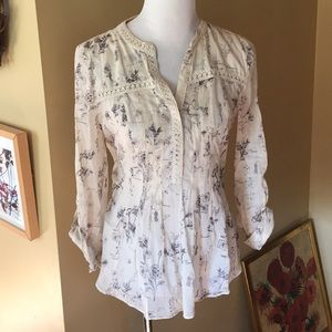 Anthropologie MAEVE sz 6 French Country $108 NEW